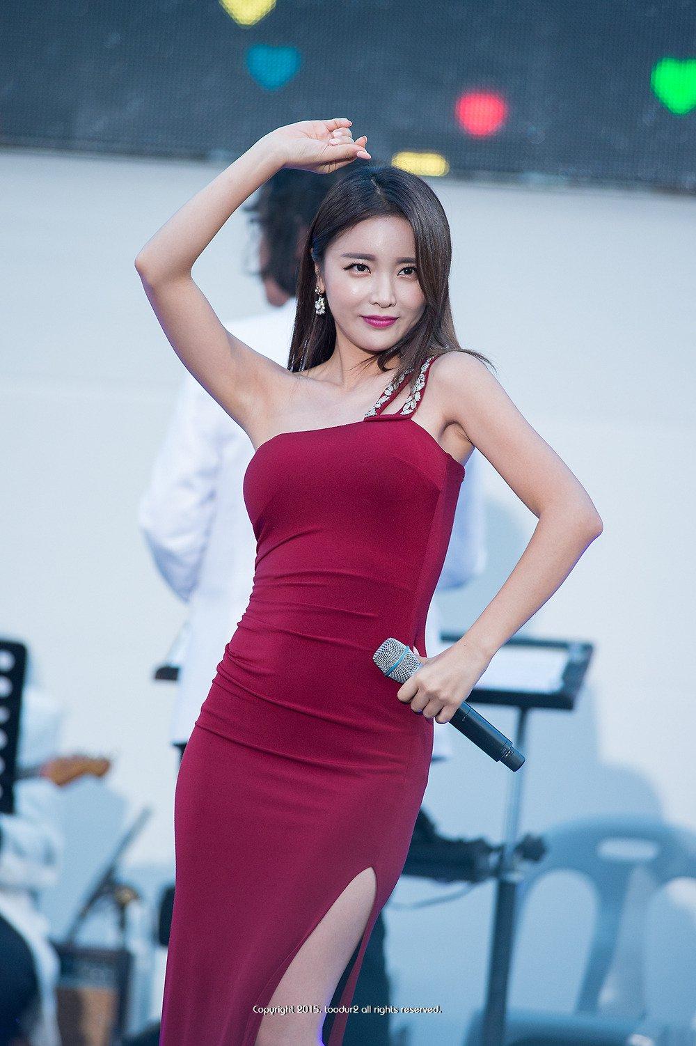 홍진영 겨드랑이 모음 - 꾸르