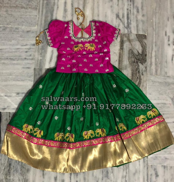 Elephant Design Pretty Kids Lehenga