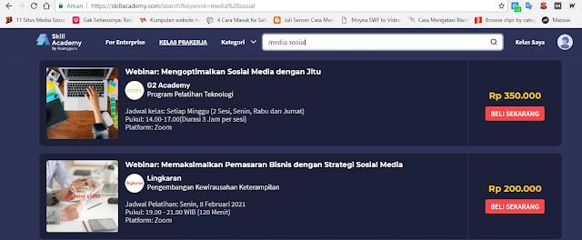 kelas media sosial kursus Online