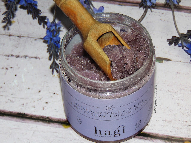 Hagi, Naturalny Scrub z olejem z pestek śliwek i olejem jojoba