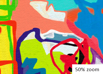 Multi coloured wall art, large colourful wall art, contemporary multi coloured wall art, vibrant canvas wall art, buy art online, original artwork, artist, Sam Freek,