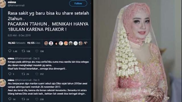 Tragedi pernikahan 1 bulan wanita cantik pernah viral di media sosial.