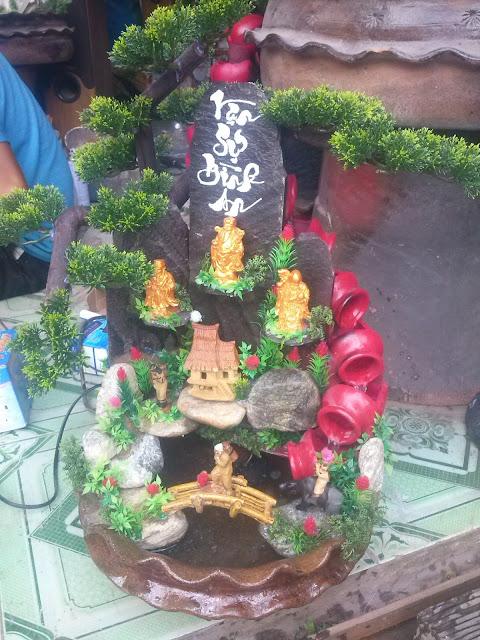 thác nước phong thủy vạn sự bình an phúc lộc thọ