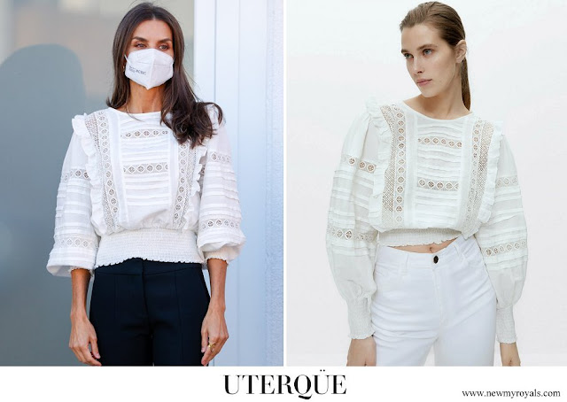 Queen Letizia wore a new white blouse from Uterqüe