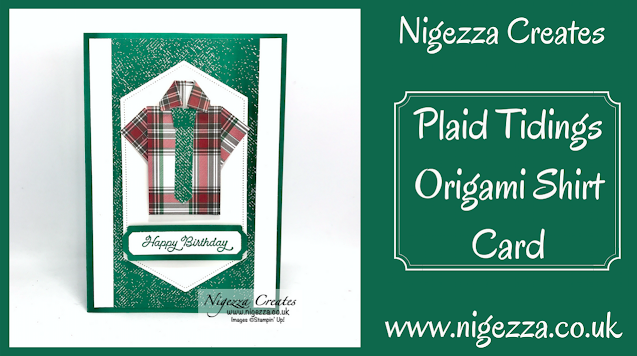 Plaid Tidings Origami Shirt Card