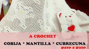 Patrones de Cobija Bebe a Crochet | Paso a paso