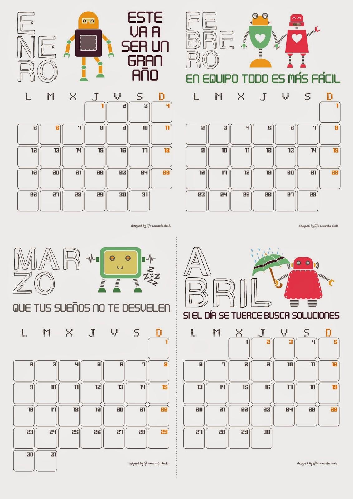 calendario gratis 2015