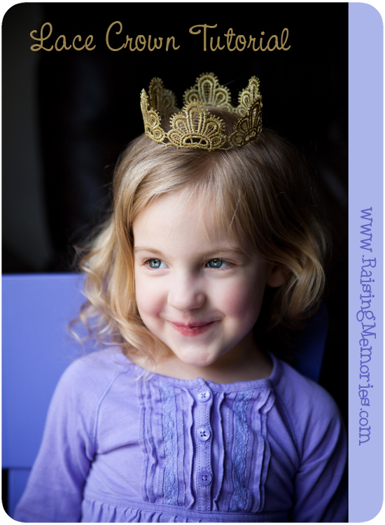 How to make a Crown from Lace by www.RaisingMemories.com
