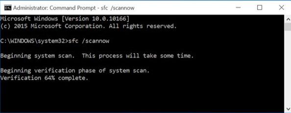 موجه الأوامر SFC SCANNOW