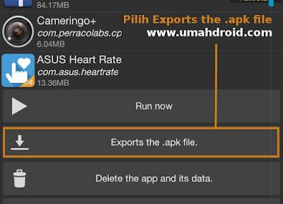 Cara export aplikasi yang sudah di install menjadi APK tanpa PC