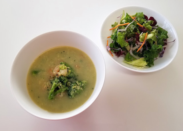 Garlic Shrimp & Broccoli Egg Drop Soup