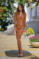 Geaca piele ecologica maron (Atmosphere Fashion)