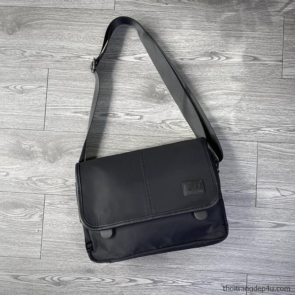 Túi đeo chéo thời trang vải dù nam sành điệu DNM022D (Đen)
