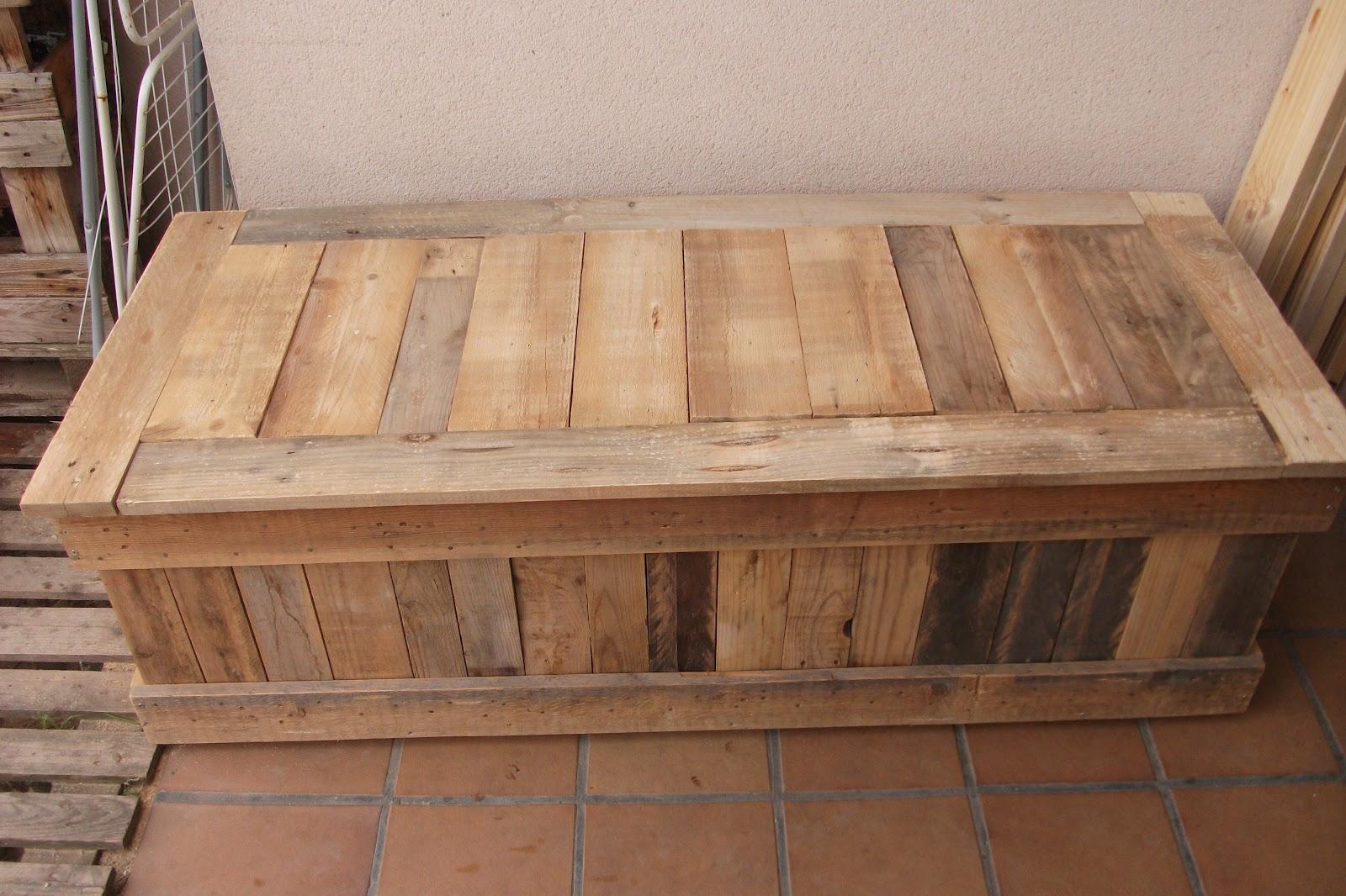 Renovarte con palets - Banco baul madera ...