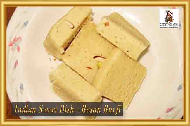 Indian Sweet Dishes - Besan Burfi