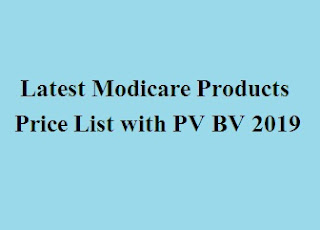 Modicare Products Price List with PV