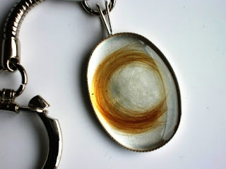 Sterling silver keyring for a loved ones hair
