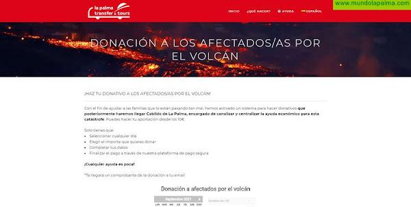 La Palma Transfer & Tours habilita un sistema de donaciones para todos sus clientes y público en general