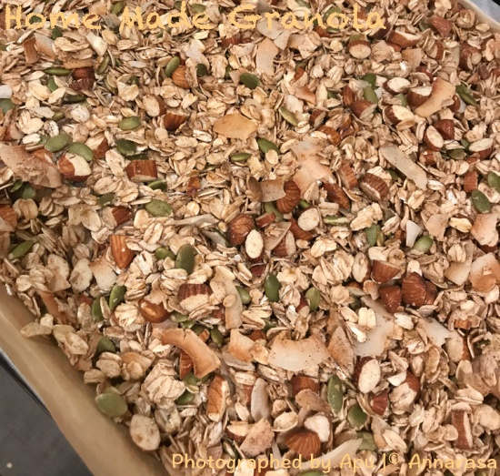 Crunchy Granola with Almonds, Coconut, and Pepitas
