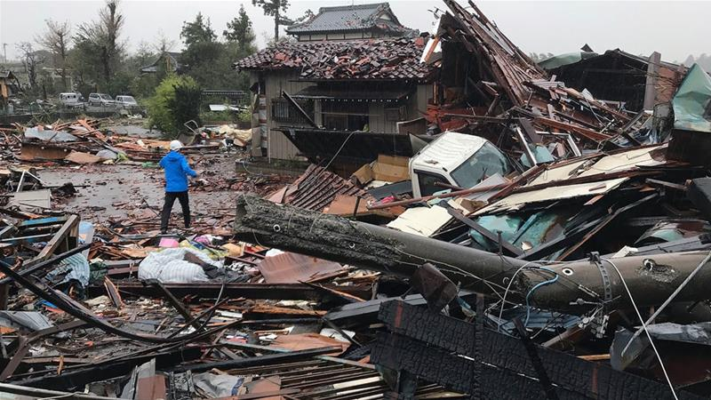 Two dead as typhoon lashes Japan, millions told to evacuate