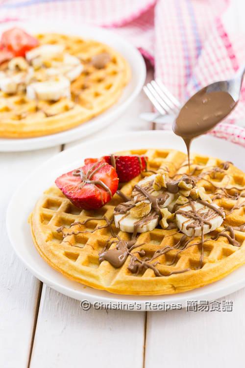 香蕉香蕉朱古力窩夫 Banana Waffles with Chocolate Sauce01