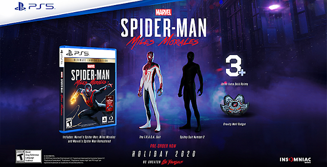 Marvel's Spider-Man Miles Morales Pre-order Bonus Ultimate Launch Edition disc cover box art remastered