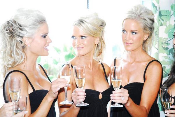 Triplet bridesmaids