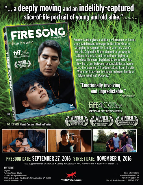 DVD & Blu-ray Release Report, Fire Song, Ralph Tribbey