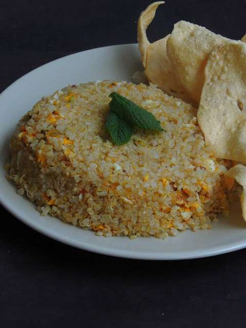 Egg Qunioa, Egg Quinoa Fried Rice