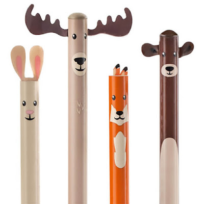 Woodland Critter Pencil Set