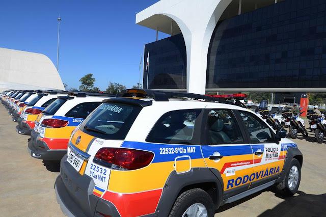 MG: Governo entrega 40 viaturas para a Polícia Militar Rodoviária