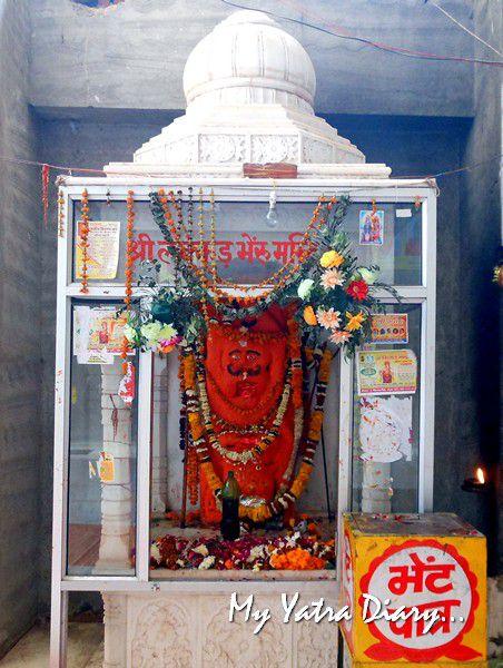 Bhairon Devta at the ShaktiSthal Jeen Mata Mandir Sikar Rajasthan
