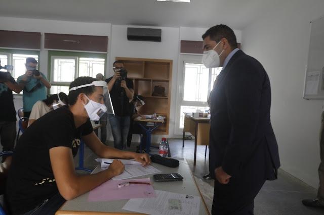 أمزازي في زيارة تفقدية لمراكز الامتحان بالرباط، رفقة السيد رئيس الحكومة