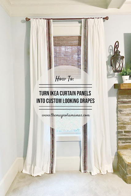 how to turn ikea curtain panels into