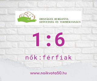 Az Országos Burgonya Szövetség és Terméktanács vezetői között 1:6 a nők és férfiak aránya #G6