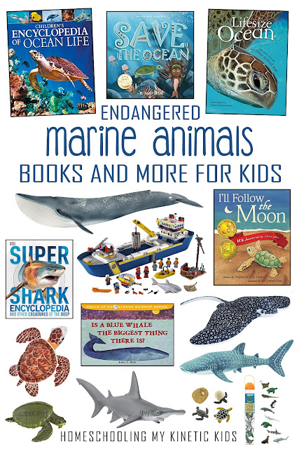 Book, toys, and more for learning about endangered ocean animals