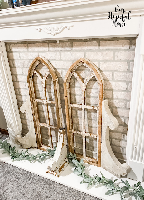 cathedral arches church corbels lambs ear garland
