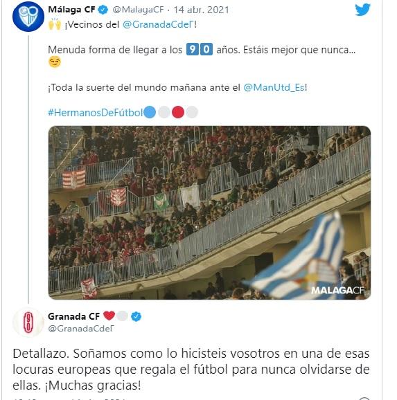 """El Granada responde al Málaga: """"Soñamos como lo hicisteis vosotros"""""""