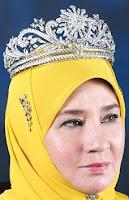 gandik diraja diamond tiara malaysia queen azizah pahang