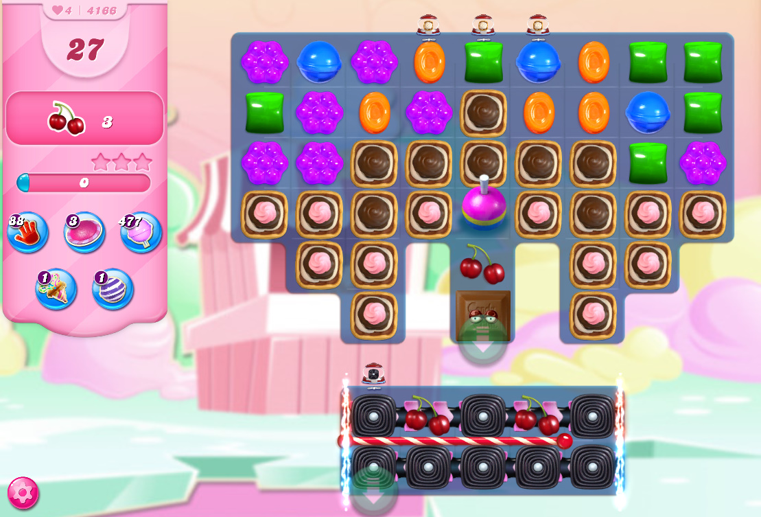 Candy Crush Saga level 4166