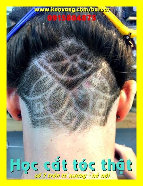 Tại đây dạy cắt tóc nam Barber từ A đến Z | lý thuyết nguồn gốc nước ngoài : thực hành trên tóc thật