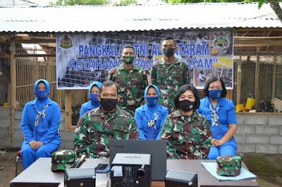 Danlanal Mataram Hadiri Pencanangan Kampung Bahari Nusantara dan Pembentukan Babinpotmar