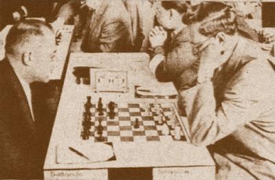 Partida de ajedrez Smyslov-Saborido en Oberhausen-1961