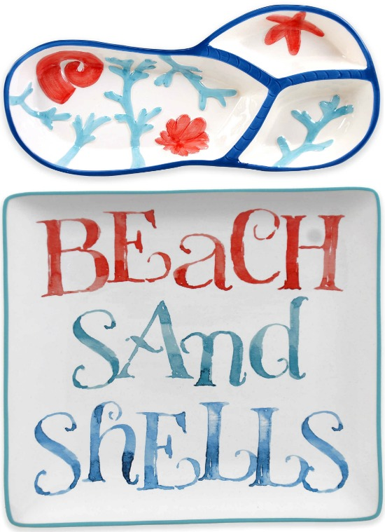 Beach Theme Platters Dishes and Dinnerware