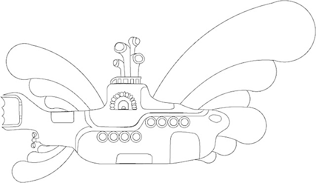 Coloring Pages: Submarine Coloring Pages