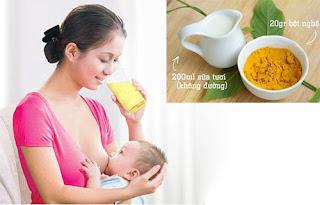 Tinh bột nghệ tốt cho phụ nữ sau sinh