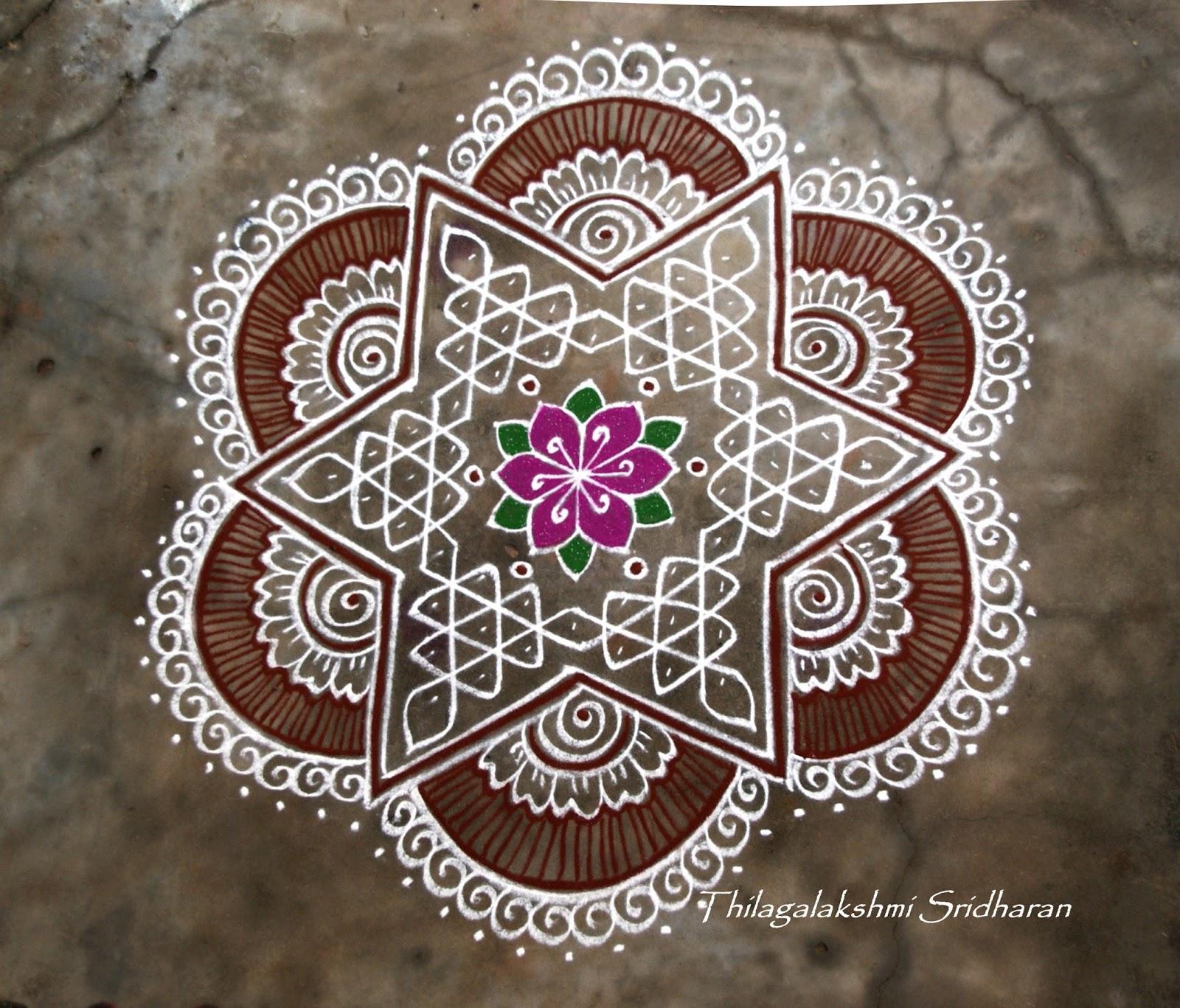 Rangoli And Art Works Margazhi 2015 Day 11 Kolam 7 4 Dots