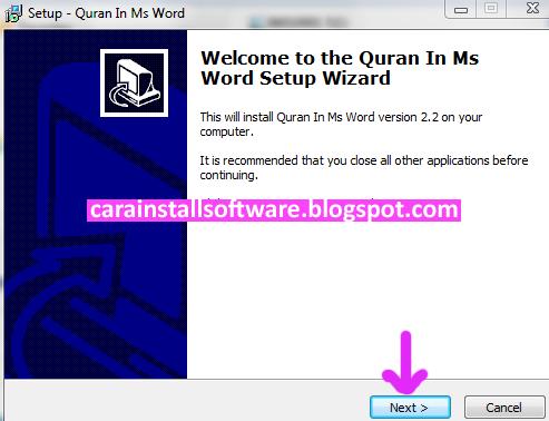 Cara Install Quran In Word