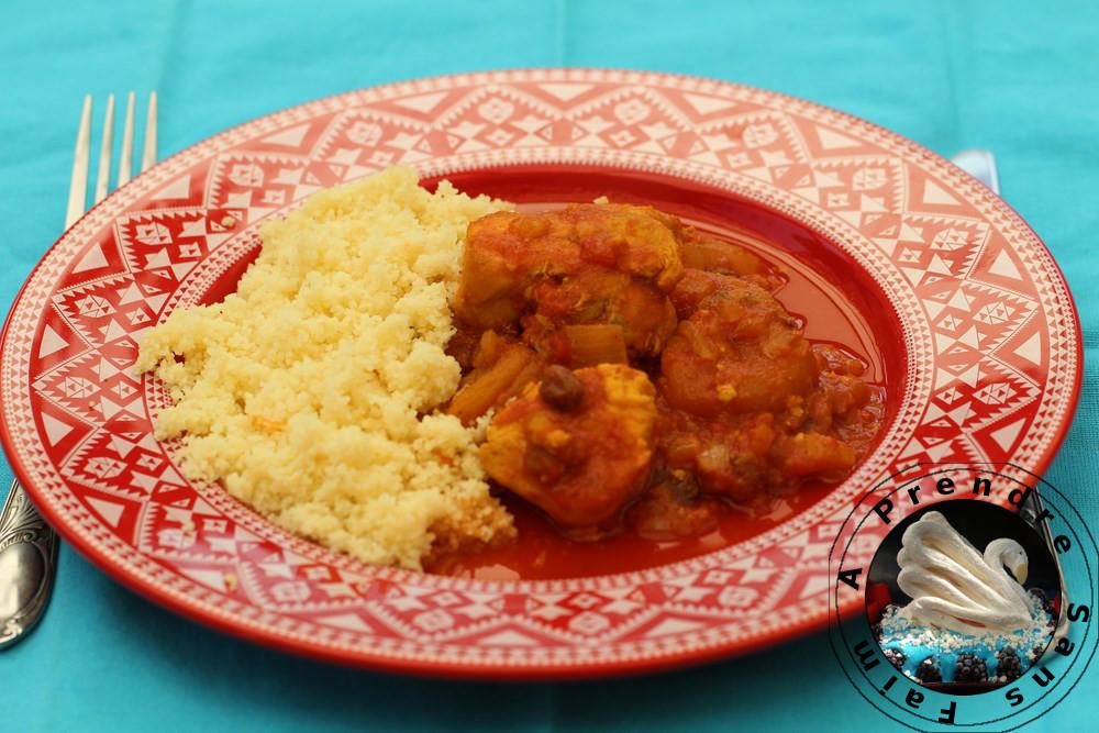 Tajine marocaine de poulet (pas à pas en photos)