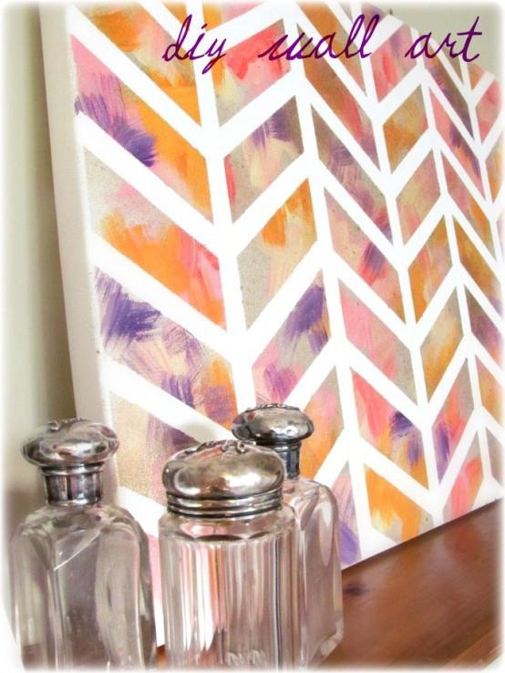 make bake and love: DIY: Painted Chevron Canvas